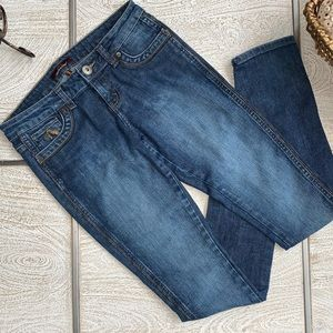 Jordache low rise tapered leg jeans